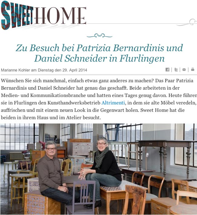 Tagesanzeiger Blog Sweethome, 29. April 2014