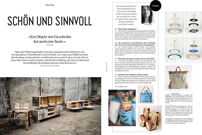 Wohnrevue, Upcycling, April 2014